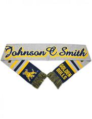 Johnson C. Smith University Acrylic Scarf- Gray