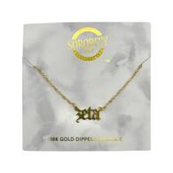 Zeta Tau Alpha ZTA Sorority Old English Necklace