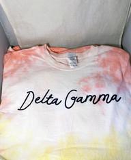 Delta Gamma Sorority Tie-Dye Shirt- Script