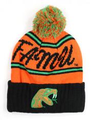 Florida A&M University FAMU Beanie-Black/Orange