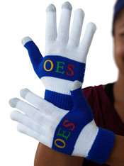 Order of the Eastern Star OES Knit Texting Gloves