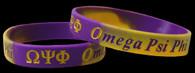Omega Psi Phi Fraternity Silicone Bracelet