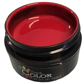 Simply Color UV GEL ART PAINTS - RAGIN' RED 15ML