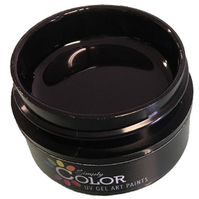 Simply Color UV GEL ART PAINTS - MIDNIGHT BLACK 15ML