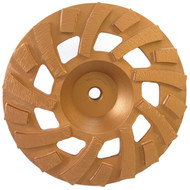 "7"" 18 segmented (9 Long, 9 Short) Grinding Cup Wheel"
