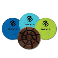 PowerGrind XL Wet Grinding Pads are used to remove Metal bond scratch and also as initial cut on clean, newer floors