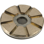 Toolip metal floor disc with hook and loop backing