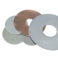 "Flexible Electroplated Pads come in 3"", 4"", 5"" and 7"" in grits 30-600"