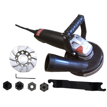 """5""""  8 Amp Pro Grinder-Vac Assembly with Convertible Shroud"""