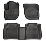 Husky Liners WeatherBeater Floor Mats - Black - Honda Fit 2015+