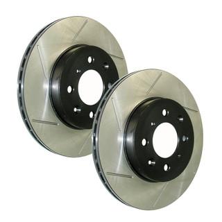 StopTech Front PowerSlot Brake Rotors - Honda Fit 06-08 - Honda Fit/Honda Fit 06-08/Brakes