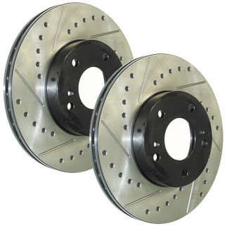 StopTech Front SportStop Rotors - Drilled & Slotted - Honda Fit 06-08 - Honda Fit/Honda Fit 06-08/Brakes