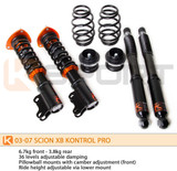 KSport Kontrol Pro Coilovers - Scion xA 04-07 - Scion xA/Suspension/Coilovers