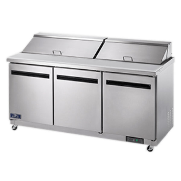 Sensational Arctic Air Ast72R 71 1 2 3 Door Refrigerated Sandwich Prep Table Home Remodeling Inspirations Genioncuboardxyz