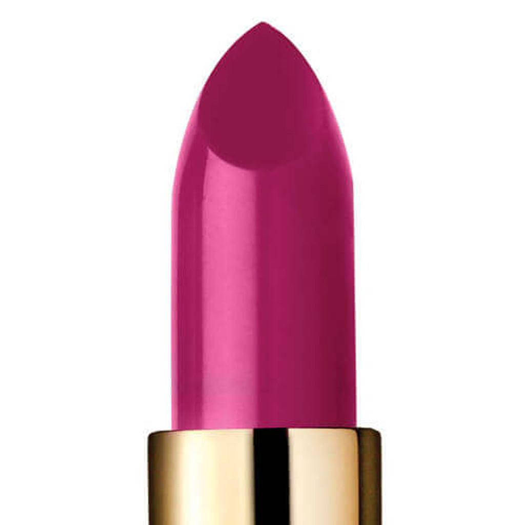 Closeup of hot pink lipstick