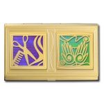 Double Design Business Card Holders
