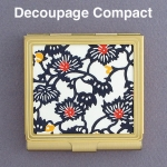 Decoupage Compact Mirror DIY Crafts Project