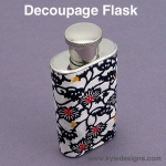 Decoupage Flask DIY Crafts Project