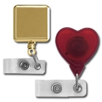 Square & Heart Shaped Badge Reels