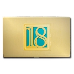Number Symbol Business Card Holders
