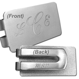 Engrave Your Money Clip