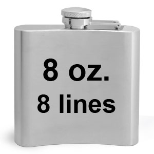 8 Ounce Stainless Steel Engraving Flasks with 8 Lines