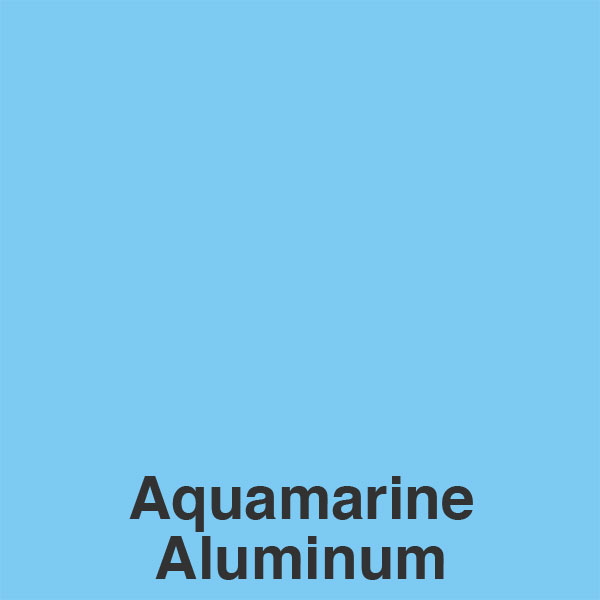Aquamarine Aluminum Color