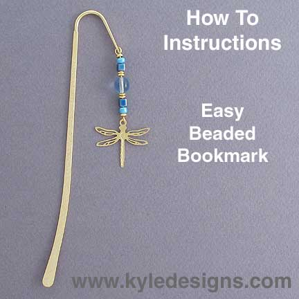 Beaded bookmark hook easy diy crafts project kyle design How to make a simple bookmark
