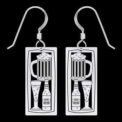 beer lover earrings that dangle