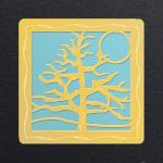 Gold - Aquamarine