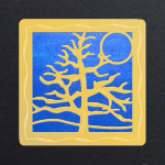 Gold -Cobalt Iridescent