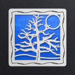 Silver - Cobalt Iridescent