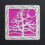 Silver - Hot Pink Iridescent