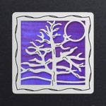 Silver - Purple Iridescent