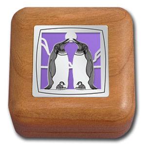 penguin engagement ring box