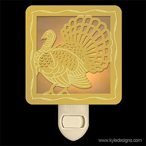 Thanksgiving Turkey Night Light Gift