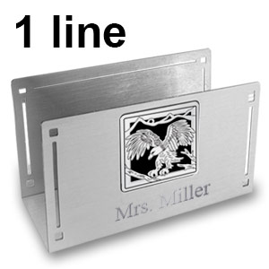 Desktop Card Holders Engraved with Name
