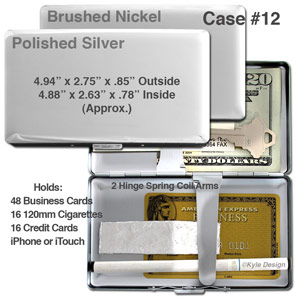 Metal wallet #12 for iPhone, 16 120mm cigarettes or 16 credit cards.