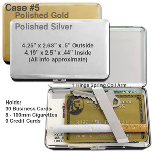 Metal wallet #5 for 9 credit cards or 8 cigarettes.