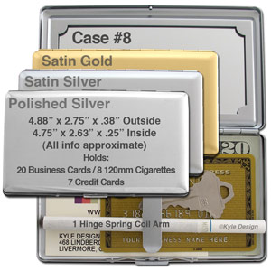 Metal wallet #8 for 8 120mm cigarettes or 7 credit cards