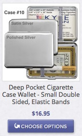 Crushproof metal wallet cigarette case 10