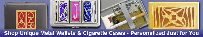 Music Cigarette Case Wallets