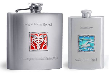 Flask with 2 Lines Engraved
