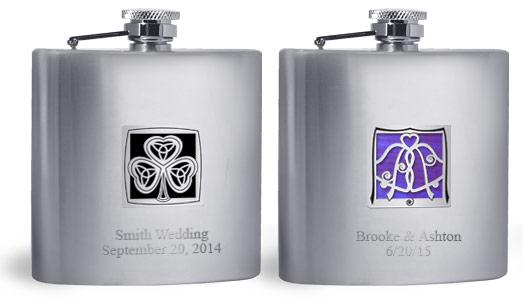 Engraved Flask - 2 Lines Below Kyle's Design