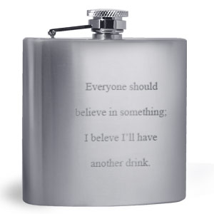Stainless Steel Flasks Engraved in Front