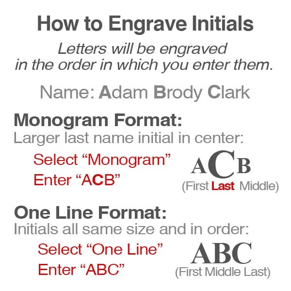 Tips for Text on Engraved Monogrammed Gifts