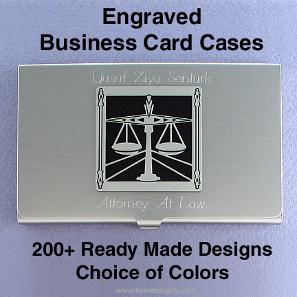 Engraved Metal Business Card Holder in Metal