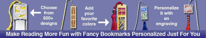 Fancy bookmarks with colorful tassels
