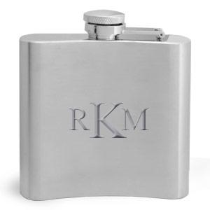 Monogrammed Flasks