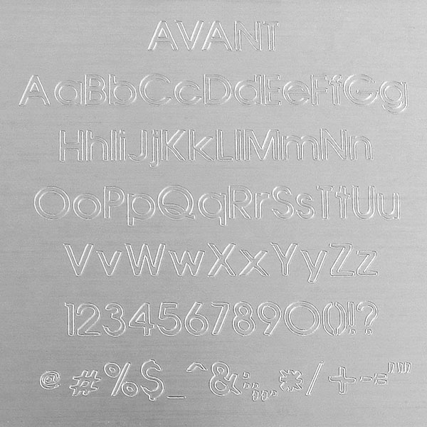 Avant Engraving Font - Contemporary